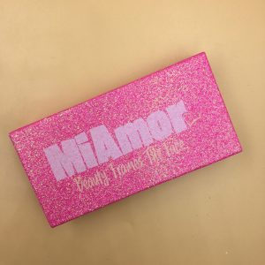 Pink Glitter Lash Packaging with Private Logo
