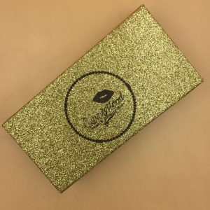 Gold Glitter Eyelash Packaging Box