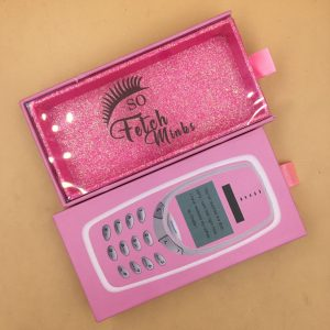 pink cell phone lash boxes