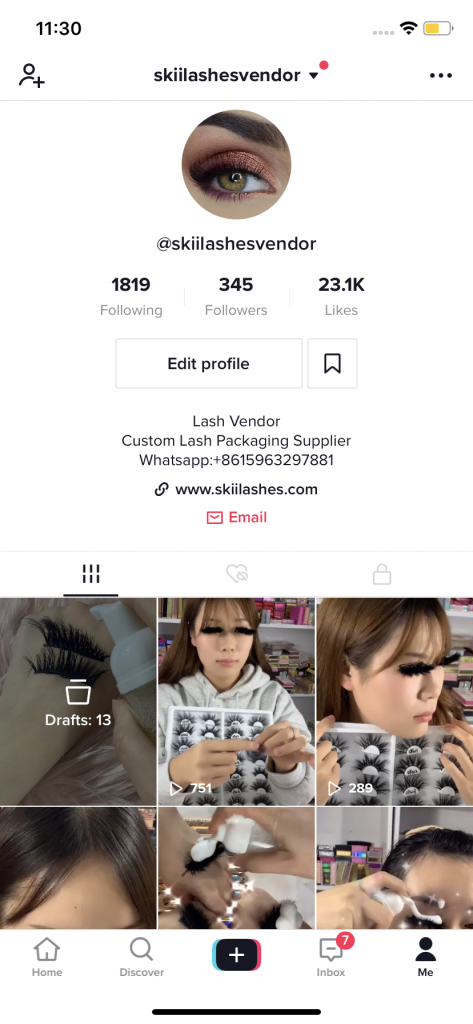 Lash Business on Tiktok
