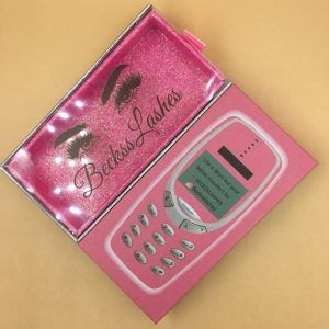 Cell Phone Custom Eyelash Packaging Cheap Custom Eyelash Boxes