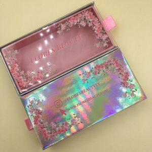 Holographic Custom Eyelash Packaging Wholesale Mink Lashes and Packaging