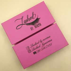 Hot Pink Custom Eyelash Packaging
