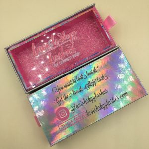 Hot Pink Glitter Custom Eyelash Packaging